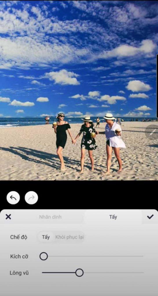 Ghép mây vào ảnh bằng app Meitu