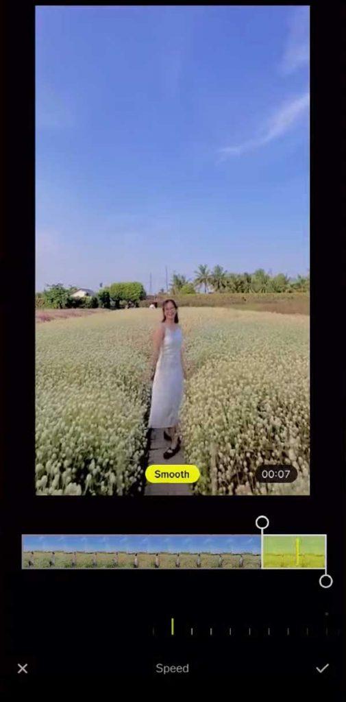 Làm video slow motion bằng VSCO